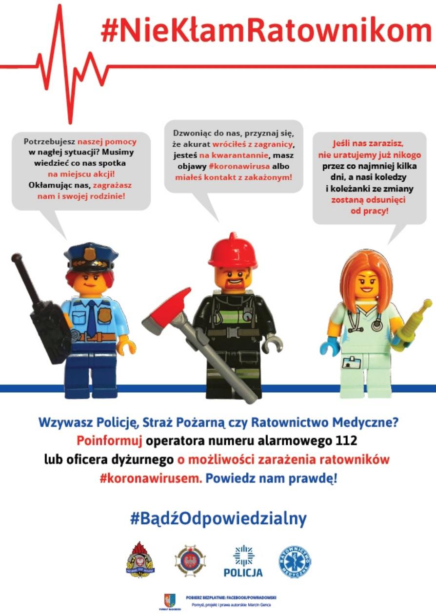 Plakat apel służb ratowniczych