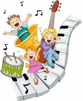 Muzykujące dzieci na instrumentach